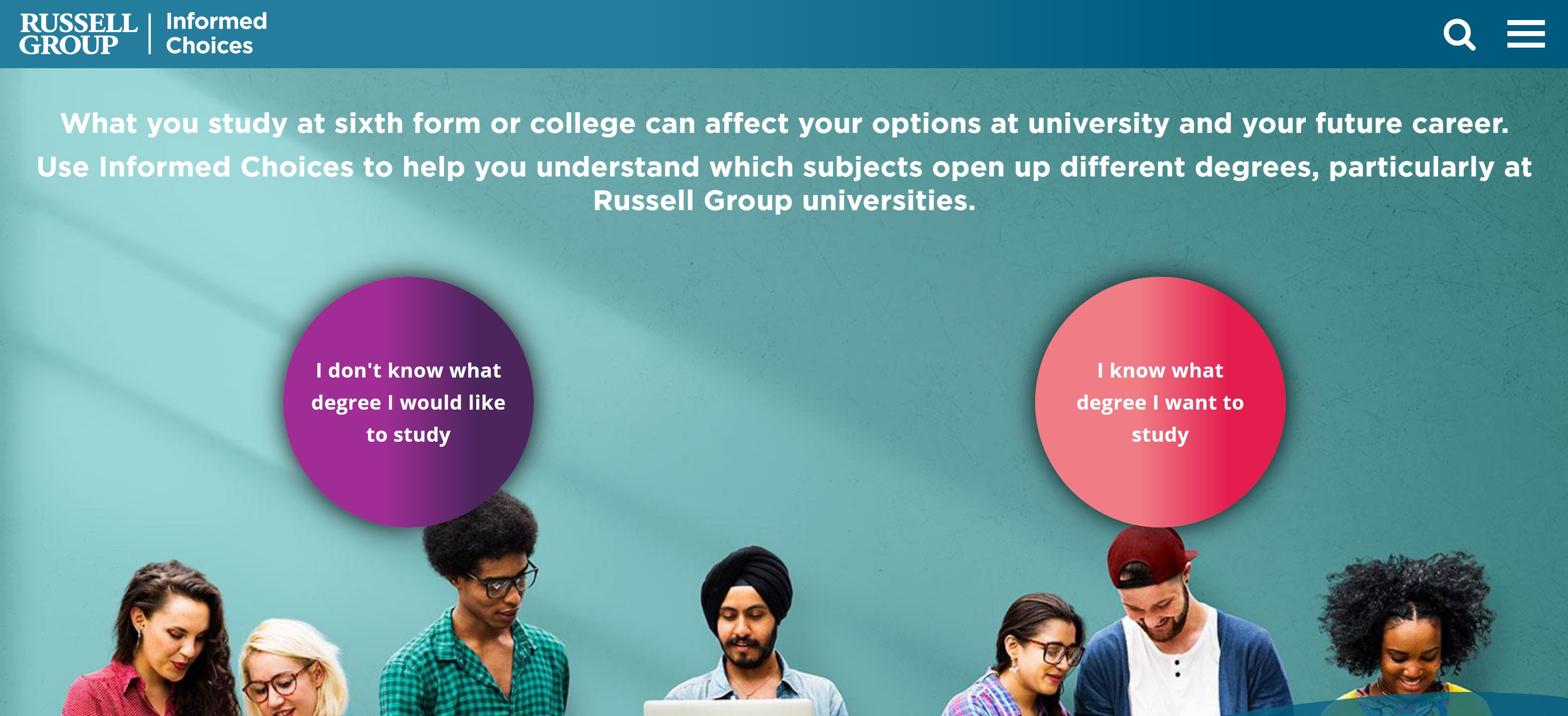 How Informed Choices can help support access to Russell Group universities